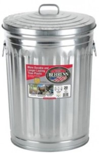 Behrens 1211K Trash Can with Lid, 20-Gallon