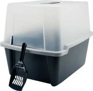 IRIS CLH Hooded Litter Box w Scoop and Cleaning Grate