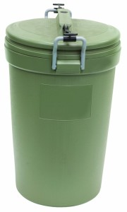 Rubbermaid 32-Gallon Animal Stopper Round Trash Can