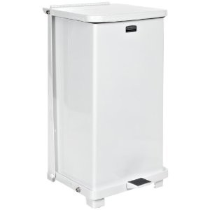 Rubbermaid Commercial Steel 24 Gallon The Defenders Step Waste Can