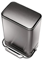 Simplehuman Steel Bar Brushed Stainless Steel Step Trash Can