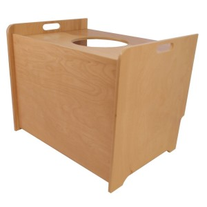 Top Entry Litter Box Cover (birch, clear finish)