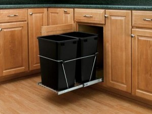 under cabinet wastebasket kitchen best proof trash can tips to keep your out of the 6519