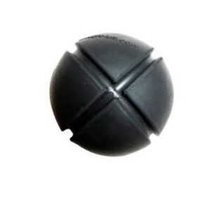 Goughnut Black Ball Rubber Dog Chew Toy