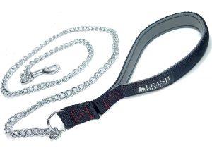 Leashboss Chain Dog Leash with Padded Handle
